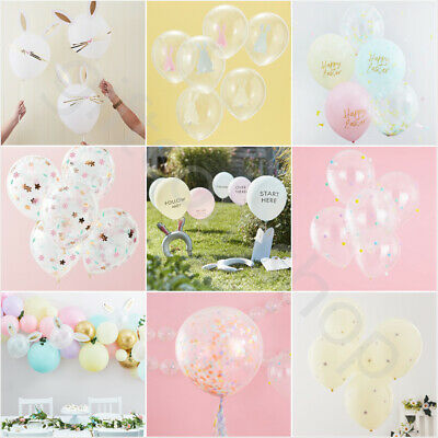 Easter Balloons Decoration Latex Helium Party Balloons Kids Childrens Birthday • 5.99£