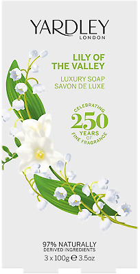 £10.20 • Buy Lily Of The Valley Luxury Soaps For Her 3X100g