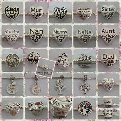 ❤ Family/Friendship Themed Charms ❤ FOR CHARM BRACELETS ❤  • 1.50£