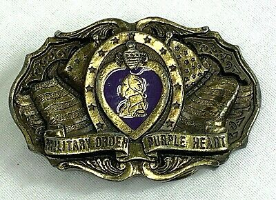 $25 • Buy 1988 Military Order Of The Purple Heart Commemorative Belt Buckle