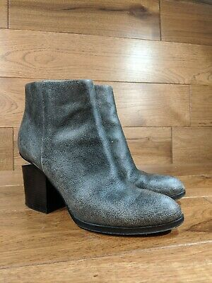 AU170.53 • Buy Alexander Wang 'Gabi' Womens Distressed Gray Leather Ankle Boots EUR 40 US 10