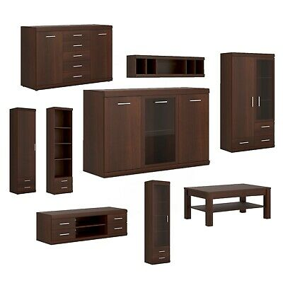 Modern Mahogany Living Room Furniture Set TV Stand Unit Cabinet Cupboard More • 213.55£