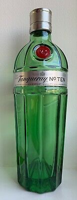 TANQUERAY No 10 NUMBER TEN London Dry GIN BOTTLE EMPTY Cocktail Bar UPCYCLE • 4.99£