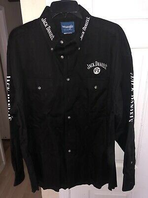 $20 • Buy MENS BUTTON UP COLLARED LONG SLEEVE SHIRT JACK DANIELS WHISKEY Wrangler Size M