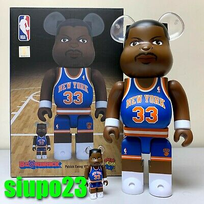$179.99 • Buy Medicom 400% + 100% Bearbrick ~ NBA Be@rbrick New York Knicks Patrick Ewing
