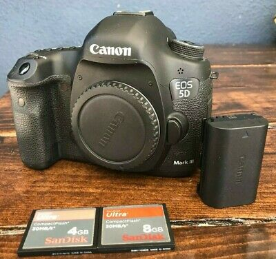 $ CDN1995 • Buy Canon EOS 5D Mark III (Body Only) With Charger, Battery And 2 Memory Cards