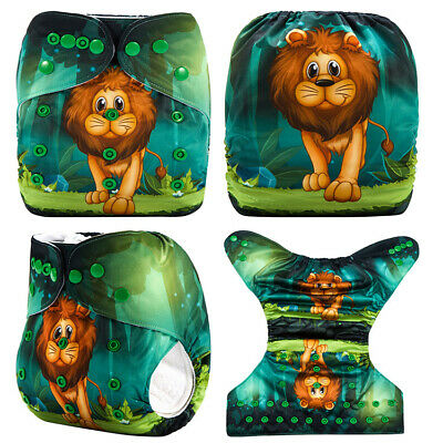 AU12 • Buy  Modern Cloth Nappies Mcn Cute Lion Shell