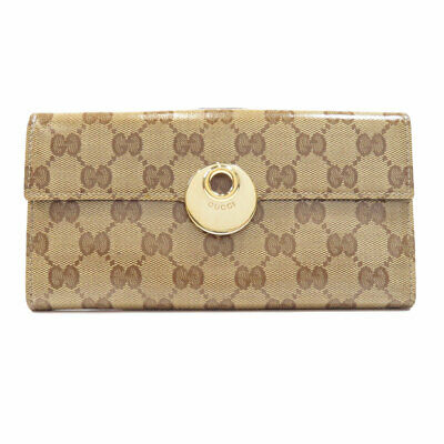 $305.05 • Buy GUCCI  231835 Long Wallet (with Coin Pocket) GG Coating Canvas