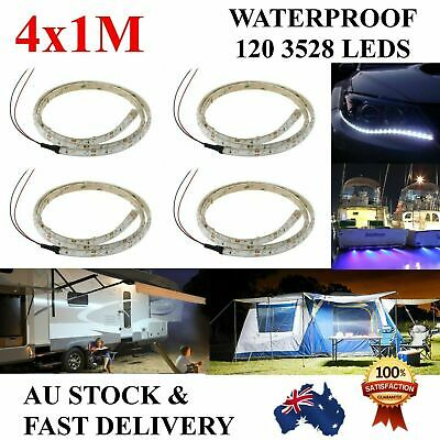 AU19.99 • Buy 4X 1M Waterproof 12V Flexible Cool White Led Strip Lights Camping Boat Car Home