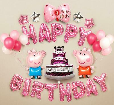 Large Peppa Pig  George Balloon 31  Birthday Party Foil Air Helium Fill Balloons • 4.79£