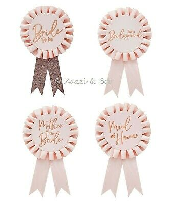 £2.95 • Buy Pink BRIDE TO BE Rosette Badge Hen Night Party Accessories Gift Party Bag Filler