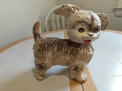 $15.95 • Buy 1960's The Edward Mobley Co. Squeaky Rubber Dog With Sleep Eyes