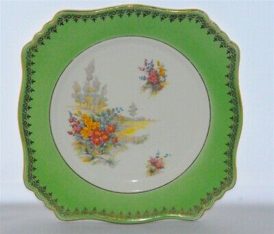 $ CDN14.99 • Buy Royal Winton Grimwades Green, Flowers, Trees, Gold Trim Scenic Floral Plate