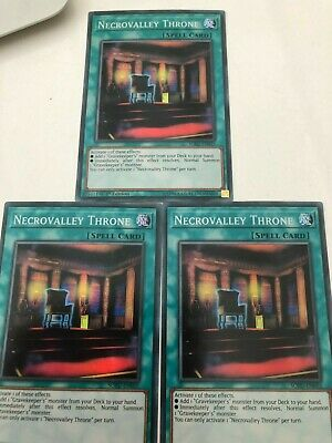 Yugioh Necrovalley Throne SOFU-EN055 Super Rare Mint Condition X3 • 2.25£