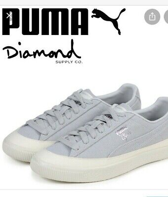 Puma Clyde Sock Lo Diamond 36565302 Mens Gray Casual Low Top Sneakers Shoes 13 • 24.60£