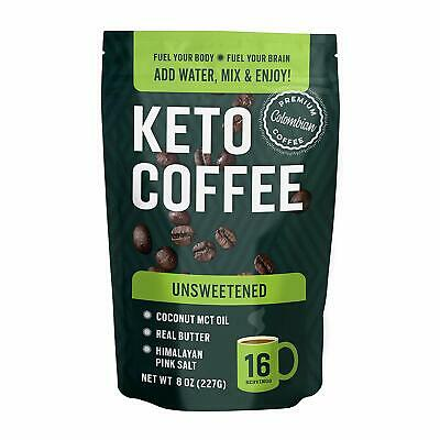 $20.99 • Buy Keto Coffee With Real Butter, MCT Oil, And Himalayan Pink Salt (Unsweetened)