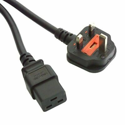 C19 To UK Power Mains Lead 2m • 9.99£