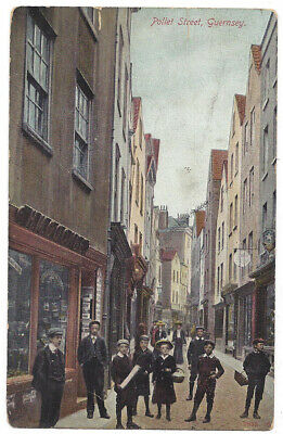 GUERNSEY Pollet Street, Channel Islands Postcard Postally Used 1909 • 5.95£