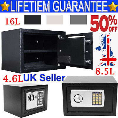 Wall Floor Mounted Security Safe Money Cash Deposit Box Office Home Safety Mini • 28.90£