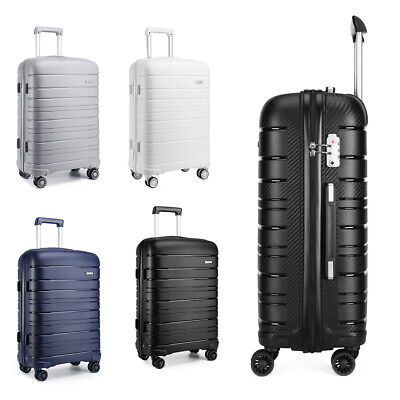 Hard Shell PP Suitcase Trolley Travel Case TSA Lock Hand Cabin Luggage Set • 27.99£