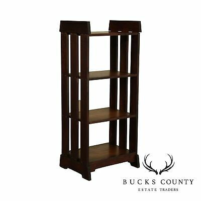$895 • Buy Antique Mission Arts And Crafts Oak 4 Tier Bookshelf