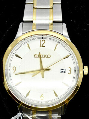 $ CDN139.99 • Buy Seiko Classic Silver Dial Two-Tone Men's Watch (SGEH82P1)