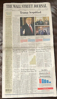 $15 • Buy The Wall Street Journal 2/6/20 TRUMP ACQUITTED