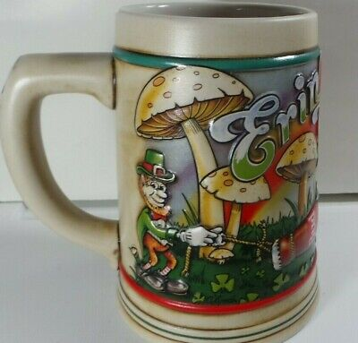 $ CDN13.27 • Buy  1993 St. Patrick Day Stein Made In Brazil Budweiser  [ Erin Go Bud. ]