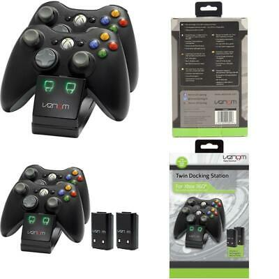 Venom Xbox 360 Twin Docking Station With 2 X Rechargeable Battery Packs (Xbox 36 • 18.99£