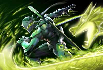 AU18.85 • Buy Overwatch Genji Gaming Large Poster Art Print - A3 A4