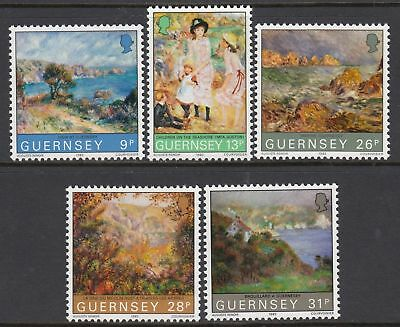 GUERNSEY SG277-281 1983 RENOIR PAINTINGS Unmounted Mint • 1£