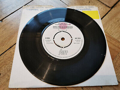 Ian & The Blockheads Hit Me With Your Rhythm Stick 7  Vinyl Record Very Good Con • 2.99£