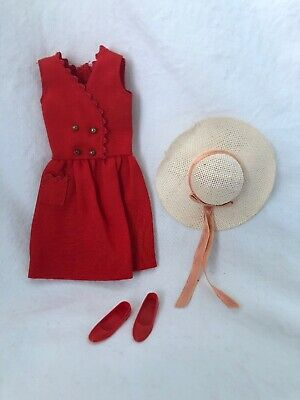 $ CDN24.99 • Buy Vintage Barbie Doll Clothes Tagged SKIPPER Red Sensation 1901 With HAT & Shoes
