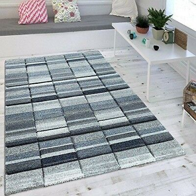 Grey And Blue Rug Checked Nautical Pattern Carpet Small Large Floor Lounge Mats • 101.84£