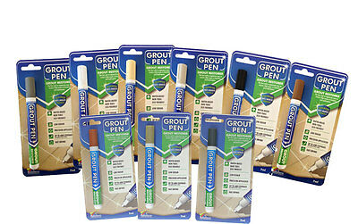 *grout Pen* Revives & Restores Tile Grout Anti-mould Now Available In 11 Colours • 4£