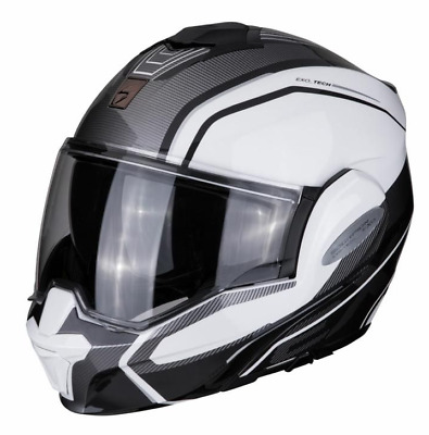 £199.99 • Buy Scorpion Exo Tech Time Off White Silver Motorcycle Flip Front Helmet