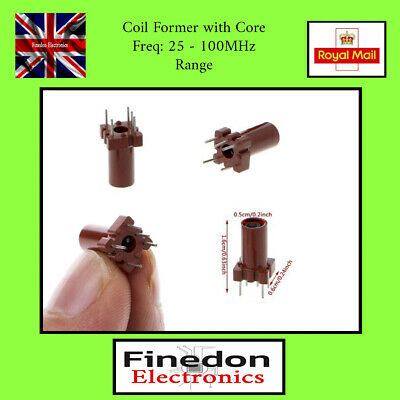 £2.08 • Buy 2 QTY Coil Former With Ferrite Adjustment Core Inductor Wire Wound UK Seller