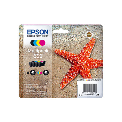 Epson Starfish 603 4-Colour Multipack - Black, Cyan, Magenta And Yellow Ink • 33.79£