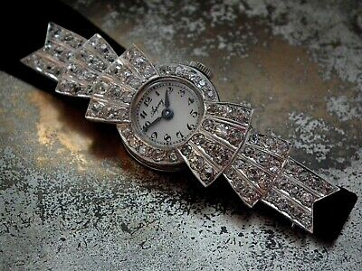Just Beautiful 1920's Platinum And Diamond Ladies Cocktail Watch • 3,900£