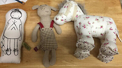 Little White Company Soft Horse, Mamas And Papas Dog Naked Lunge Doll • 10£