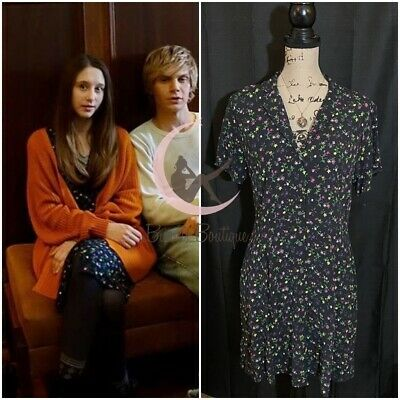 $ CDN67.87 • Buy ASO Violet Harmon Gap Floral Shirt Dress Sz S, M American Horror Story