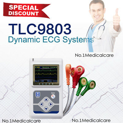 £230 • Buy TLC9803 ECG Holter Dynamic 3 Channel Analyzer 24H Recorder System, Pc Software