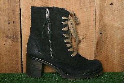$34.95 • Buy MTNG Black Suede Combat Ankle Boots W/3  High Heels EUR 39
