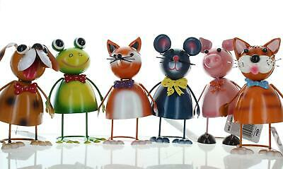 Wobbly Metal Novelty Animals Garden Ornaments Outdoor Choice Of 6 Designs • 6.99£