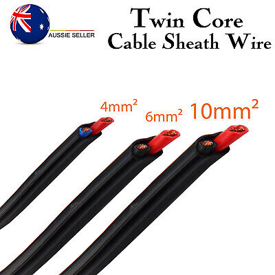 AU23.98 • Buy Twin Core Cable Auto/Marine/Boat/Caravan/Solar Panel Insulated Wire 4mm 6mm 10mm