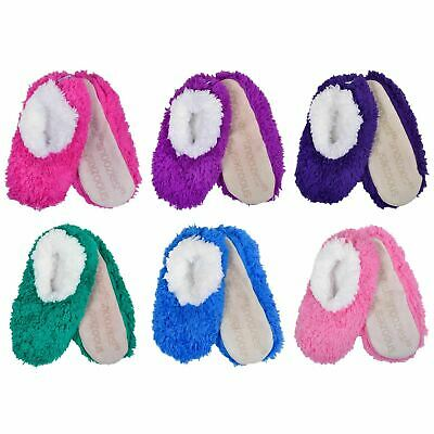 Womens Ladies Girls OMG Snoozies! Slippers Sherpa Fleece Lined Comfy  • 7.99£
