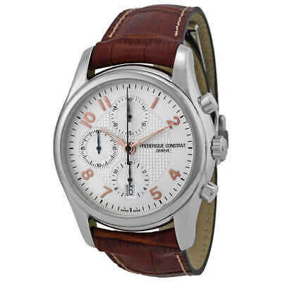$1569.75 • Buy Frederique Constant Runabout Chronograph Automatic Silver Guilloche Leather