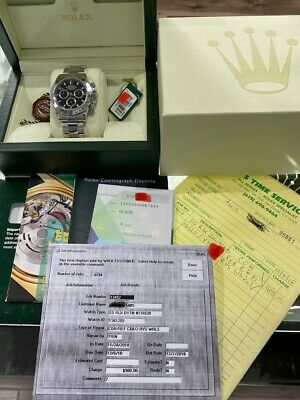 $ CDN22958.98 • Buy Rolex Daytona Cosmograph 116520 Black Dial Stainless Steel Full Set Box & Papers
