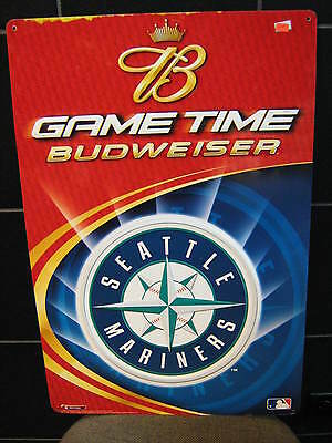 $ CDN85.88 • Buy Seattle Mariners- Original Mlb Metal Budweiser Beer Sign