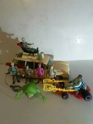 Vintage The Real Ghostbusters Ecto 1 & Action Figures Lot Bundle Kenner 1980s • 59£